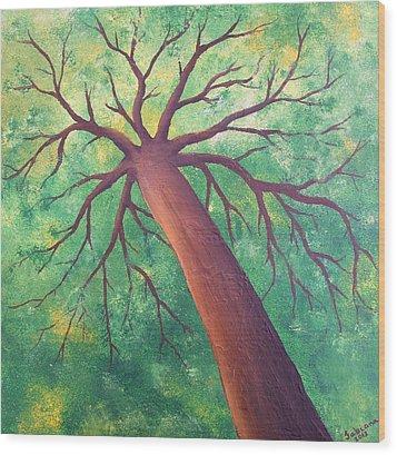 Hope Wood Print by Fabiana Oliveira