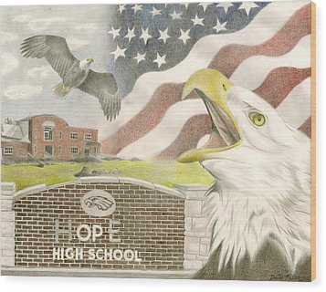 Hope High School Wood Print by Dustin Miller