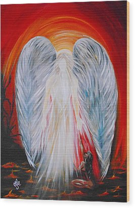 Hope In Hell - Michael Archangel Series Wood Print
