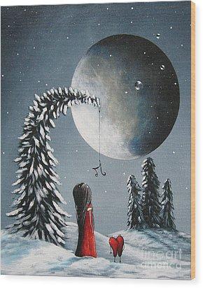 Hope Is On Her Way By Shawna Erback Wood Print by Shawna Erback