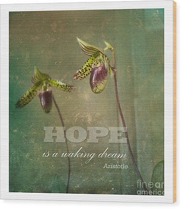 Hope Is Wood Print