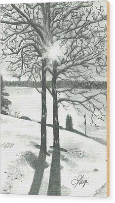 Hope Of Spring Wood Print