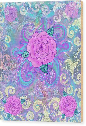 Hope Roses Wood Print by Alixandra Mullins