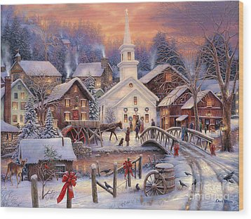 Hope Runs Deep Wood Print by Chuck Pinson