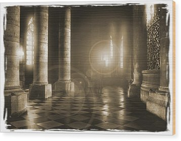 Hope Shinning Through Wood Print by Mike McGlothlen