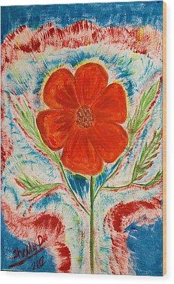 Hope Springs Up Wood Print