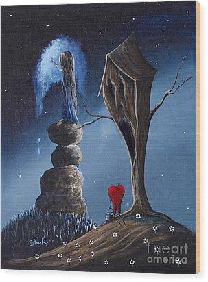 Hope Still Lives Here By Shawna Erback Wood Print by Shawna Erback
