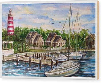 Hope Town Wood Print