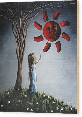 Hope You Feel Better Soon By Shawna Erback Wood Print by Shawna Erback