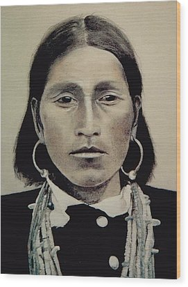 Hopi Woman Of The First Light Wood Print by Terri Ana Stokes