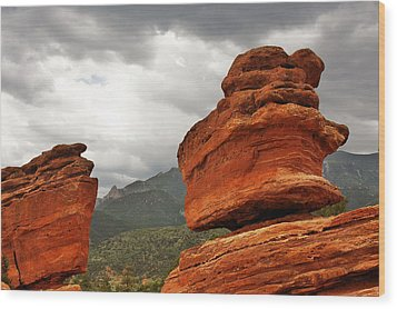 Hoping For Rain - Garden Of The Gods Colorado Wood Print by Christine Till