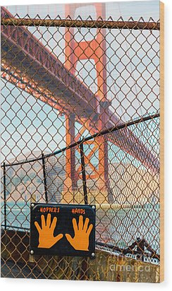 Hoppers Hands Wood Print