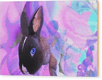 Hoppy Easter Wood Print