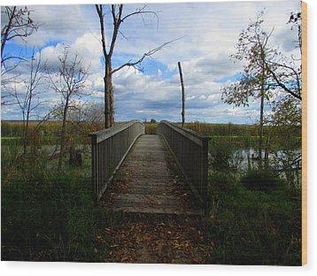Wood Print featuring the photograph Horicon Bridge In Autumn by Kimberly Mackowski
