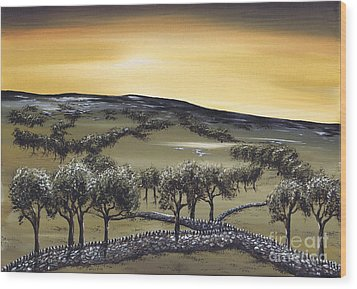 Horizon Wood Print by Kenneth Clarke