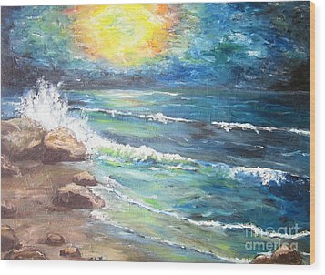 Wood Print featuring the painting Horizons by Cheryl Pettigrew