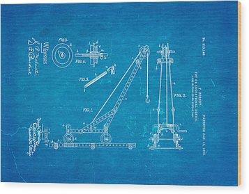 Hornby Meccano Patent Art 1906 Blueprint Wood Print by Ian Monk