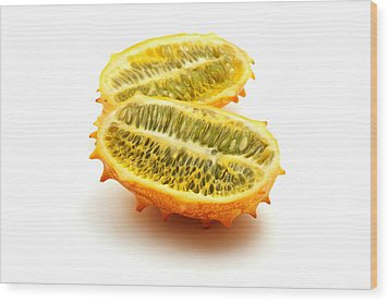 Wood Print featuring the photograph Horned Melon by Fabrizio Troiani