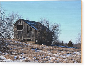 Horning Road Barn Wood Print by Jennifer  King