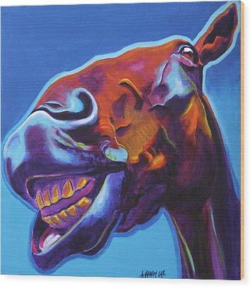 Horse - Finn Wood Print by Alicia VanNoy Call