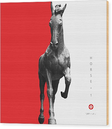 Horse 1 Wood Print by David Davies