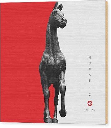 Horse 2 Wood Print by David Davies