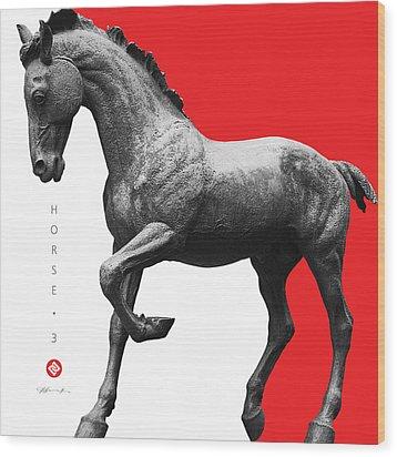 Horse 3 Wood Print by David Davies