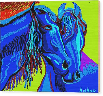 Horse-7 Wood Print by Anand Swaroop Manchiraju