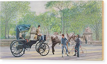 Horse And Carriage Wood Print by Anthony Butera
