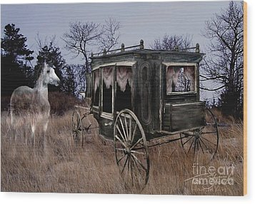Horse And Carriage Wood Print by Tom Straub