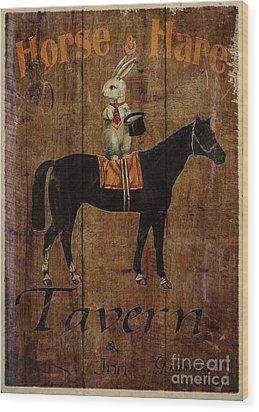 Horse And Hare Pub Wood Print