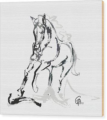 Horse- Andalusian Angel Wood Print by Go Van Kampen