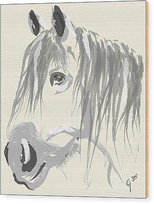 Horse- Big Jack Wood Print by Go Van Kampen