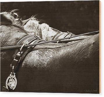 Horse Brass Wood Print by Judy Wood