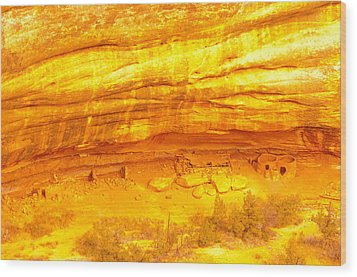 Horse Collar Ruins Wood Print by Jeff Swan