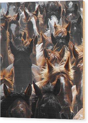 Horse Ears Wood Print by Kae Cheatham