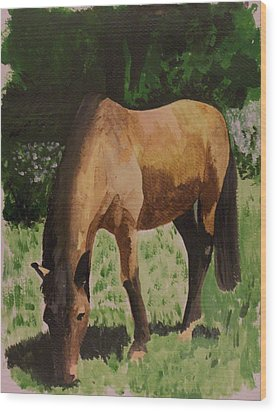 Horse Wood Print by Isabella F Abbie Shores FRSA