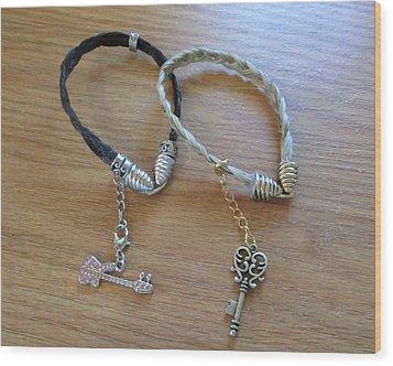 Horse Hair Bracelets Wood Print by Rosalie Klidies