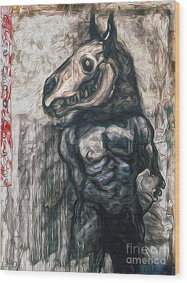 Horse Head Wood Print by Gregory Dyer
