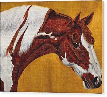 Horse Head Study Wood Print by Joy Reese