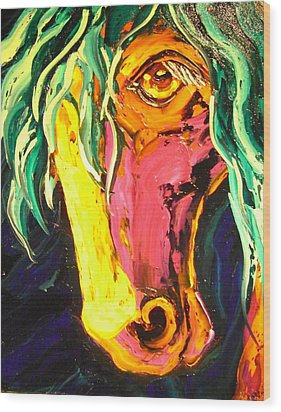 Horse Wood Print by Isabelle Gervais
