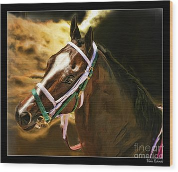 Horse Last Memories Wood Print by Blake Richards