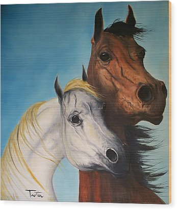 Horse Lovers Wood Print by Patrick Trotter