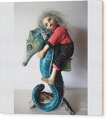 Horse Of A Different Color Wood Print by Linda Apple