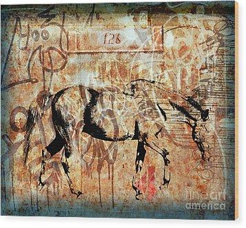 Horse One Twenty Six Wood Print by Judy Wood