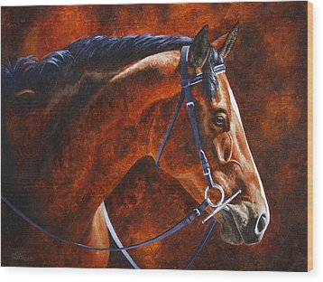 Horse Painting - Ziggy Wood Print by Crista Forest