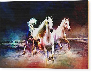 Horse Paintings 002 Wood Print by Catf