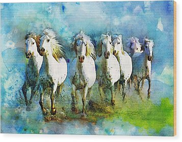 Horse Paintings 005 Wood Print by Catf