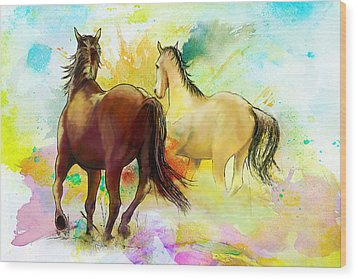 Horse Paintings 009 Wood Print by Catf