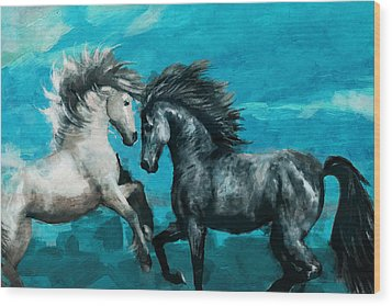 Horse Paintings 011 Wood Print by Catf
